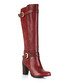 Bordeaux leather & buckle heeled boots Sale - W11 ATELIER ITALIAN COLLECTION Sale
