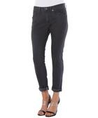 Grace dark grey cotton boyfriend jeans