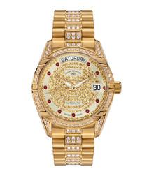 Comète II gold-tone steel watch