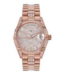 Comète II rose gold-tone steel watch