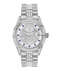 Comète II silver-tone steel watch