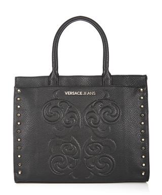 aff9629c34592 Black studded side shopper bag Sale - Versace Jeans Sale
