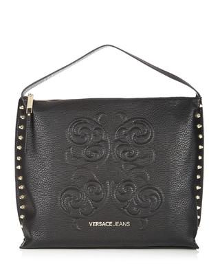 d38b08cd4eaa6 Black studded side shoulder bag Sale - Versace Jeans Sale