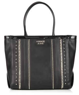 6fcd83fc532d8 Black stud   chain tote Sale - Versace Jeans Sale