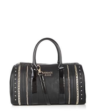 e8f6acc5f9b3f Black stud   chain bowling bag Sale - Versace Jeans Sale