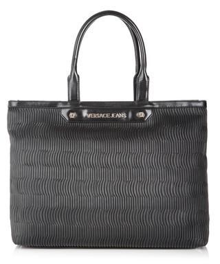 18958c257fce Black ridged-effect tote bag Sale - Versace Jeans Sale