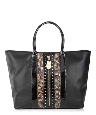 f5932296b0f9 Black snake-effect tote bag Sale - Versace Jeans Sale