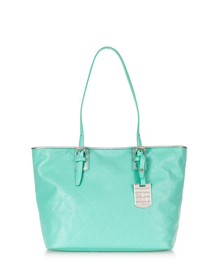 6681a7fb1de2 Longchamp. Mint blue embossed leather shoulder bag