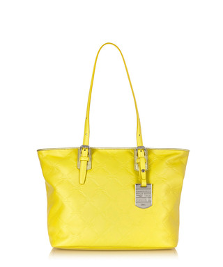 fa9827ff0e26 Longchamp. Yellow embossed leather shoulder bag