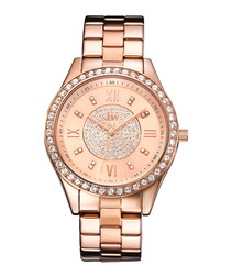 Mondrian rose gold-plate diamond watch