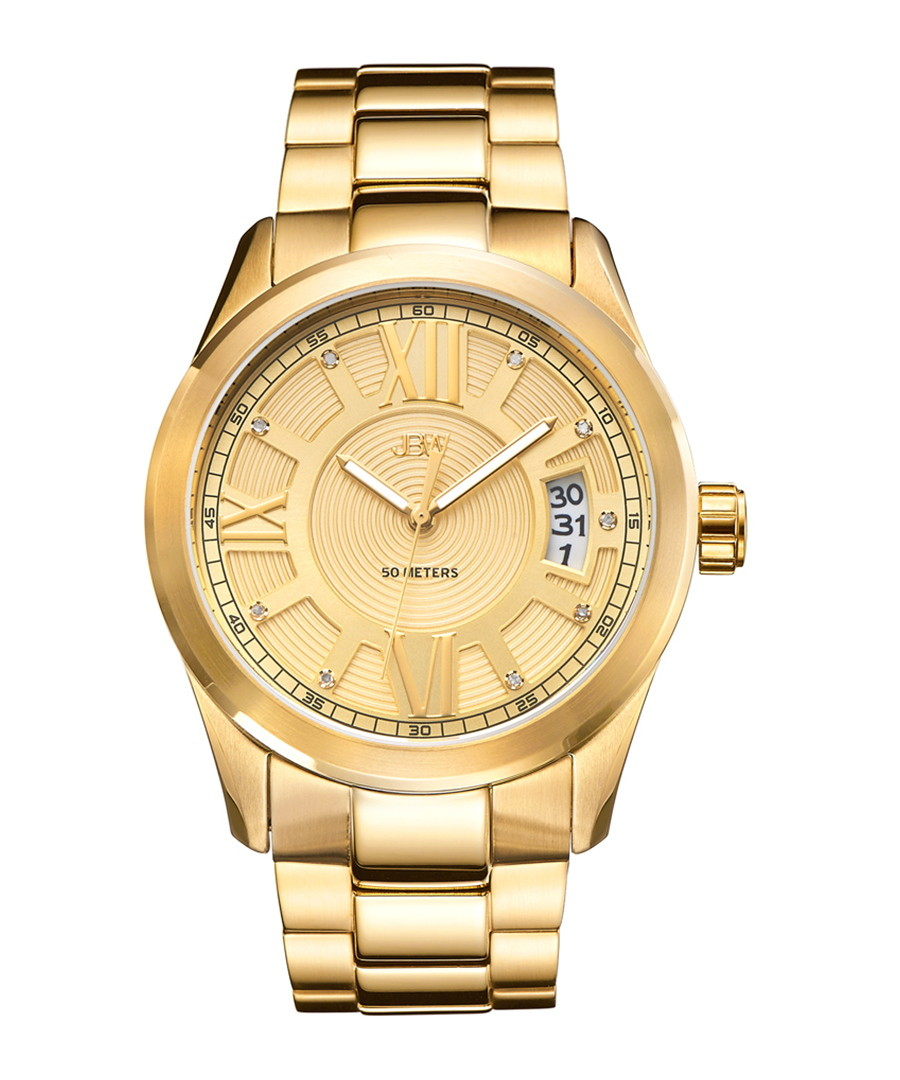 Bond gold-plated diamond dial watch Sale - jbw