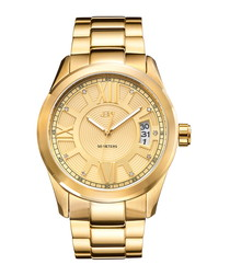 Bond gold-plated diamond dial watch