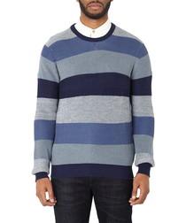 Blue striped pure cotton sweatshirt