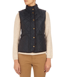 Navy cotton-lined padded gilet
