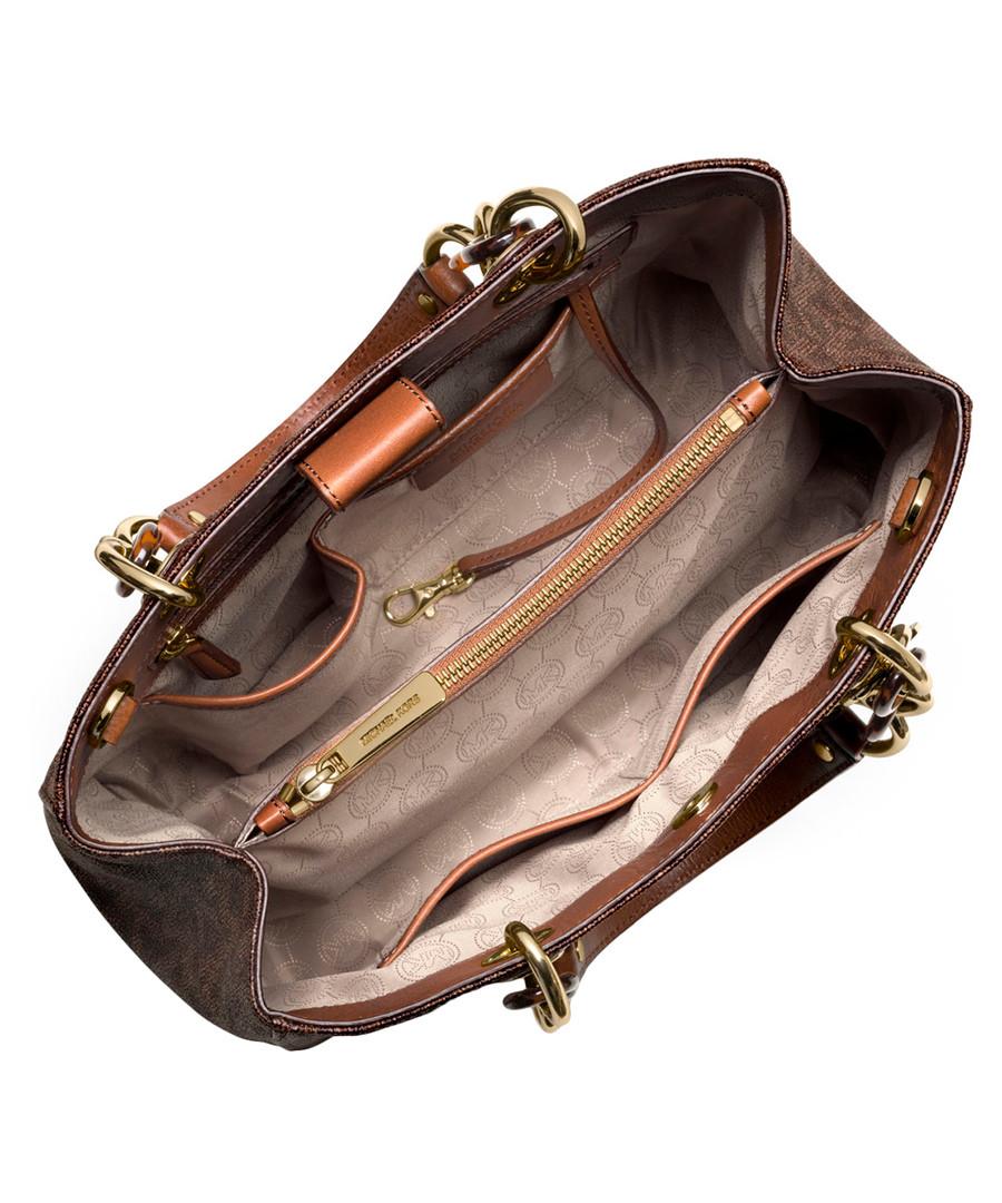 42b68845e702 ... Cynthia brown MK logo medium satchel Sale - Michael Kors