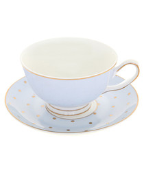 Miss Darcy blue china teacup & saucer