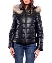 Looly black lambskin leather jacket