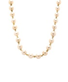 Gold-tone & faux pearl necklace