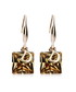 Crystal D brown gold-plated earrings Sale - caromay Sale