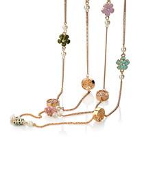 Camellia multi-layer chain necklace