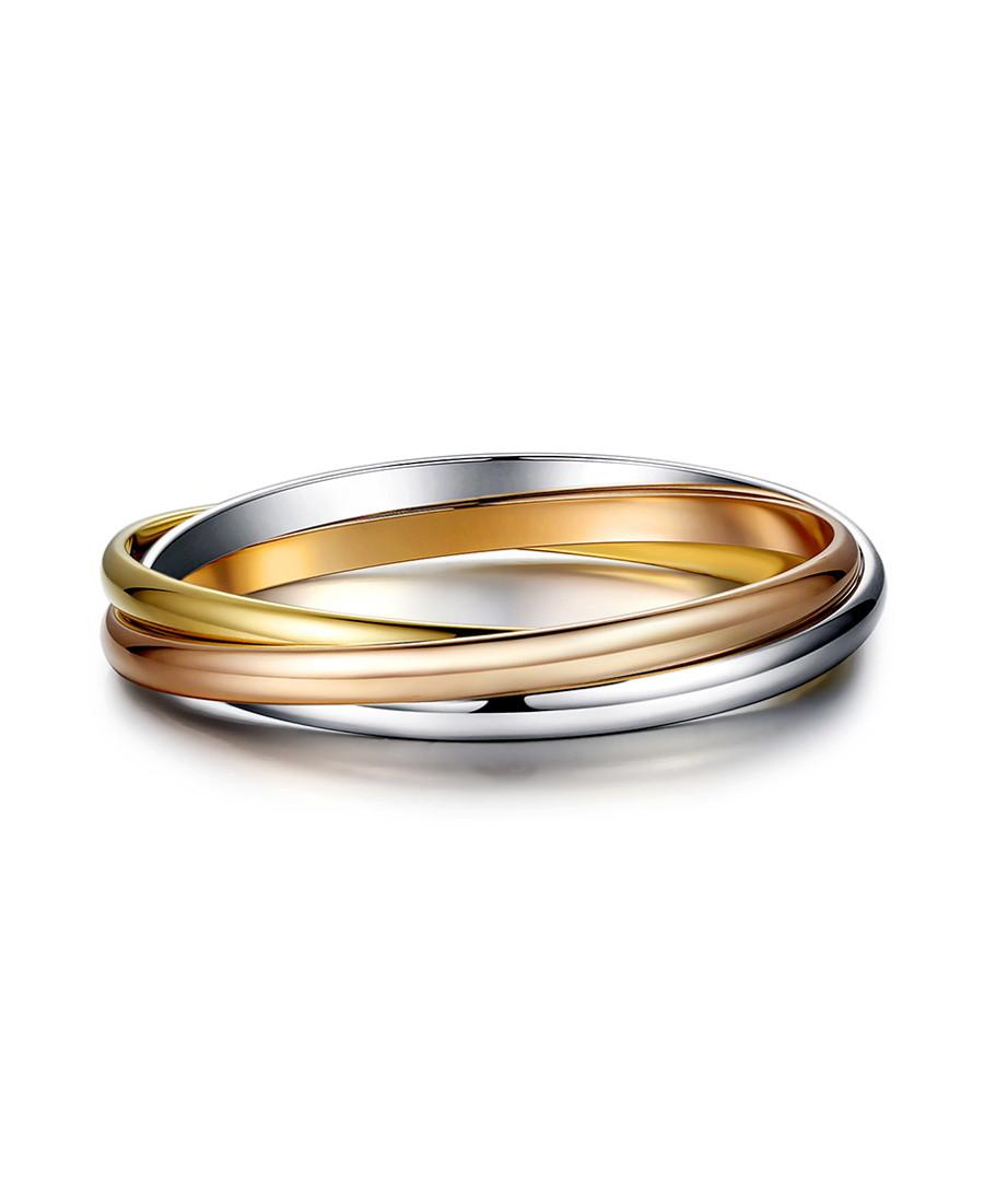 Unity tri-tone steel bracelet Sale - caromay