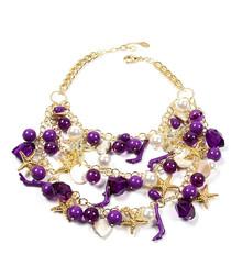 Kelia purple starfish necklace