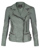 Rokel sycamore leather biker jacket