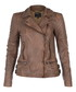 Rokel taupe leather biker jacket  Sale - Muubaa Sale