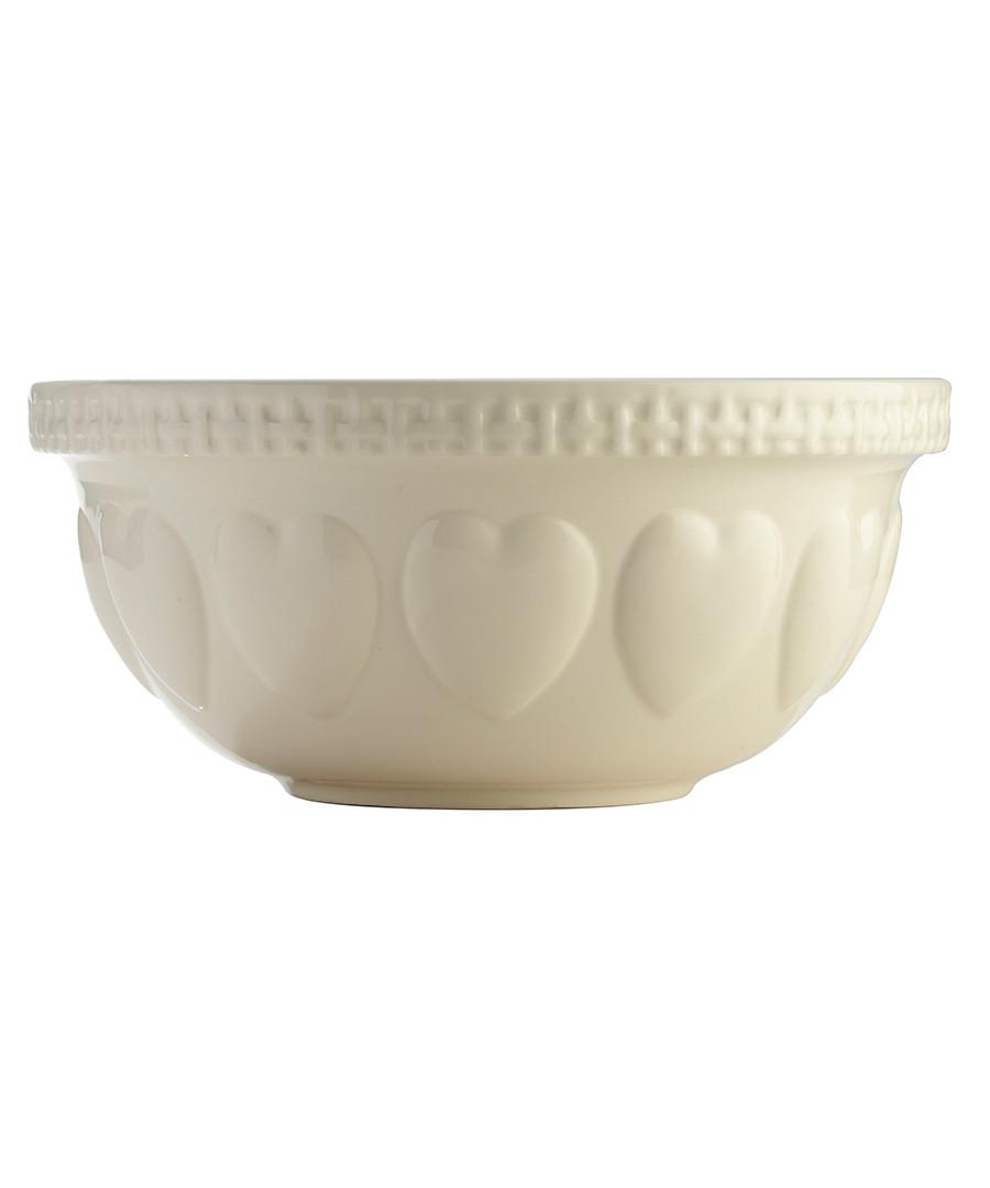 Hearts cream mixing bowl 29cm  Sale - mason cash
