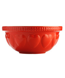 Hearts red mixing bowl 29cm