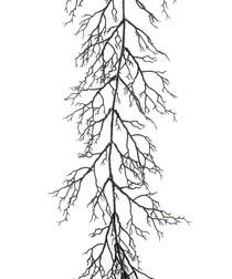 Image of Black glitter twig garland