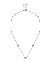 White gold-plated dew drop necklace
