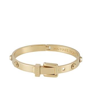 Gold-tone hinged buckle bangle Sale - Michael Kors Sale 73cff5afec67