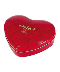 Image of Red heart nougat chocolates tin