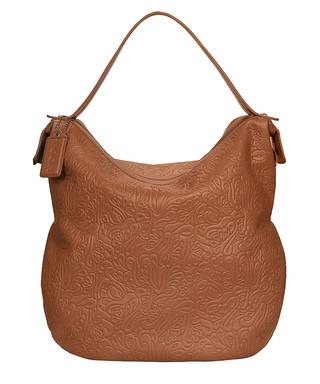 af5130e0f2a Cognac leather patterned slouch bag Sale - Poon Sale