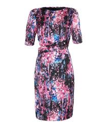 Pink abstract print dress