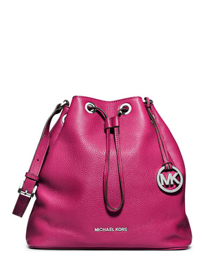 6e12651a024e Jules deep pink leather drawstring bag Sale - Michael Kors Sale