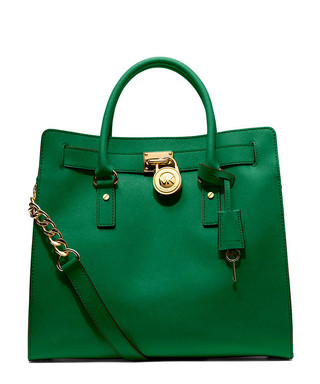a8be3d3a67c5 Hamilton gooseberry leather tote Sale - Michael Kors Sale