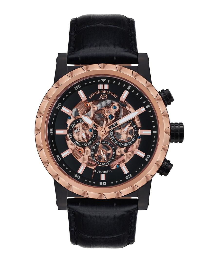Conquête black & rose gold-tone watch Sale - andre belfort