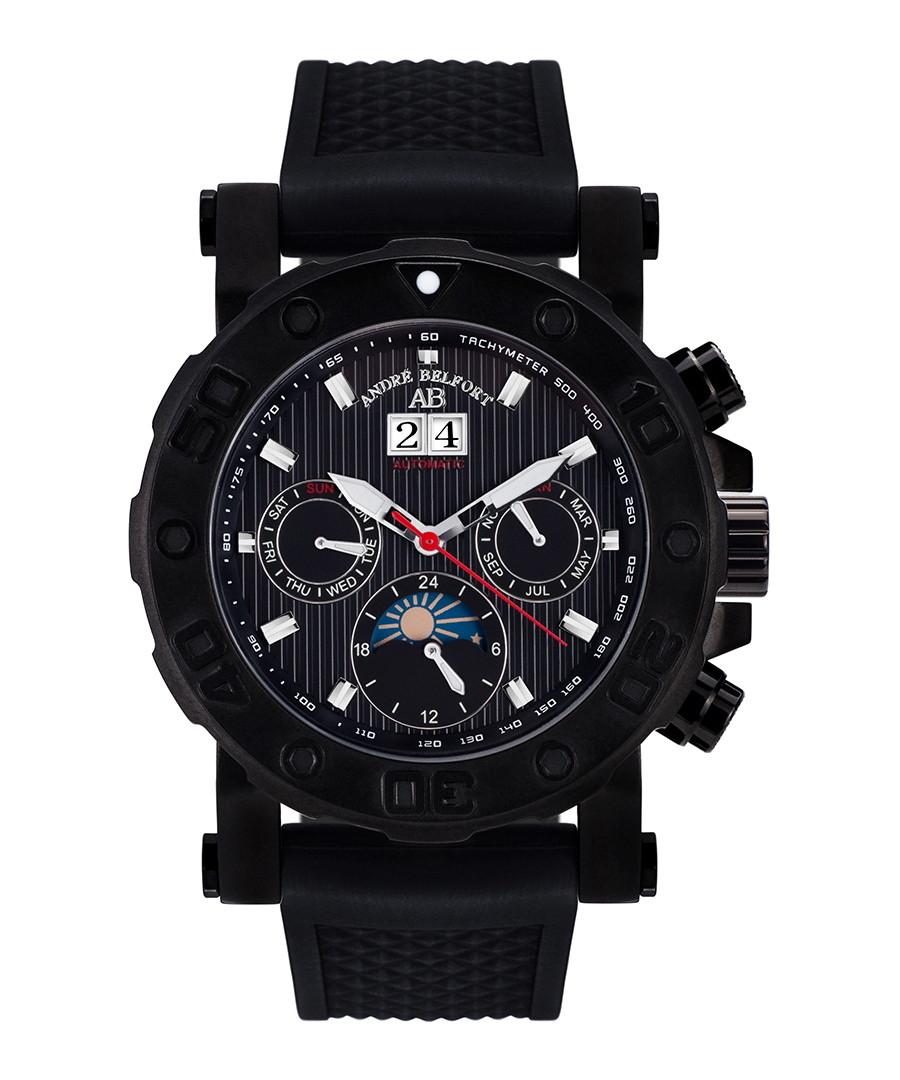Plongeur black ion-plated watch Sale - andre belfort