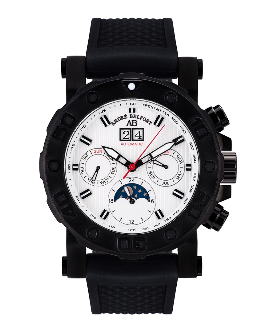 Plongeur black & white ion-plated watch Sale - andre belfort