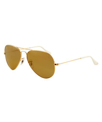 Aviator gold mirrored sunglasses