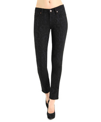 James Twiggy black cotton blend jeans