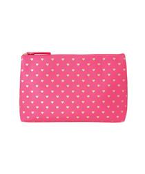 Image of Bisous pink & gold wash bag