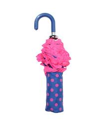Image of Confetti pink & blue handbag umbrella