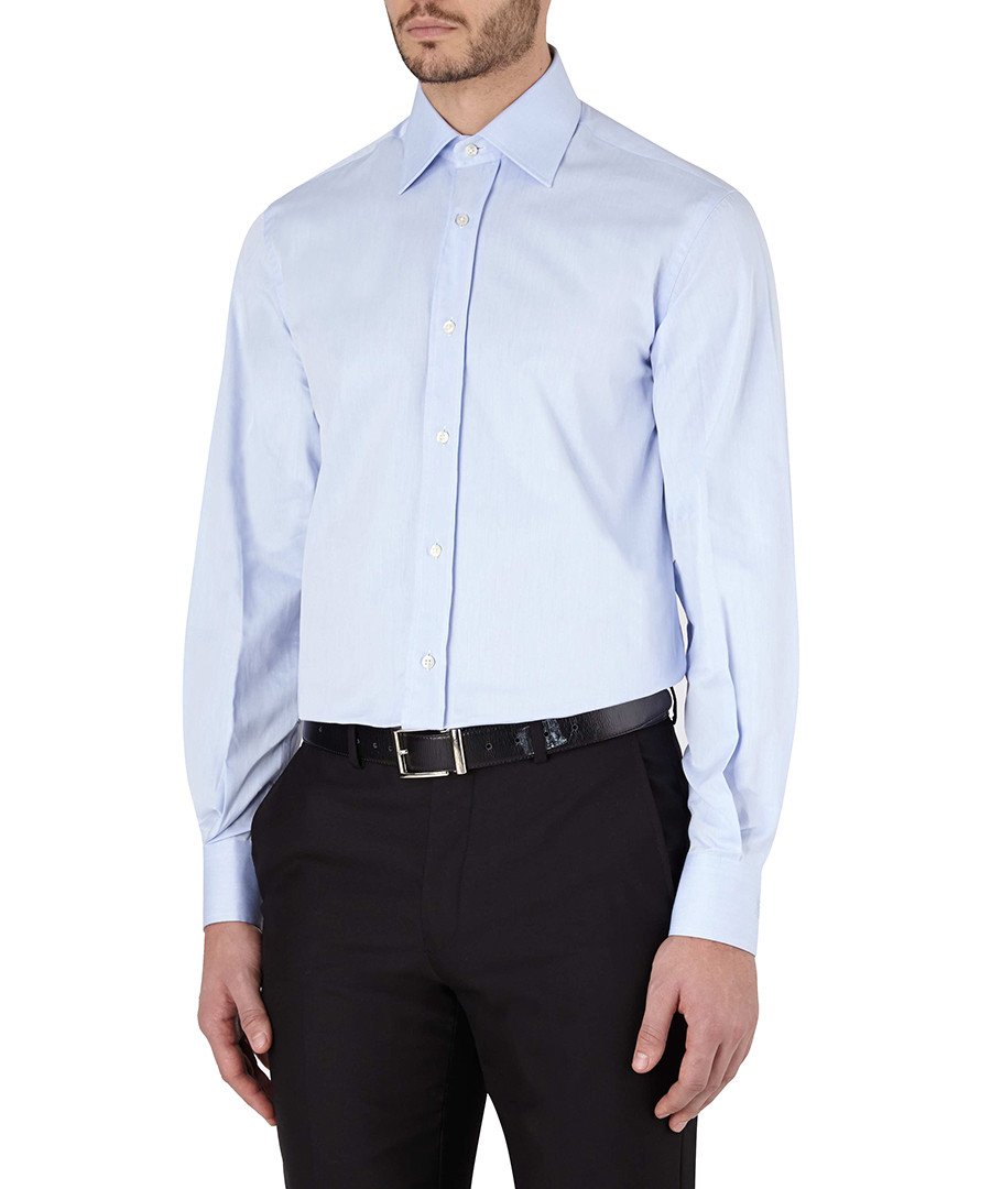 YSL Dubai light blue pure cotton shirt, Designer Topwear Sale ...