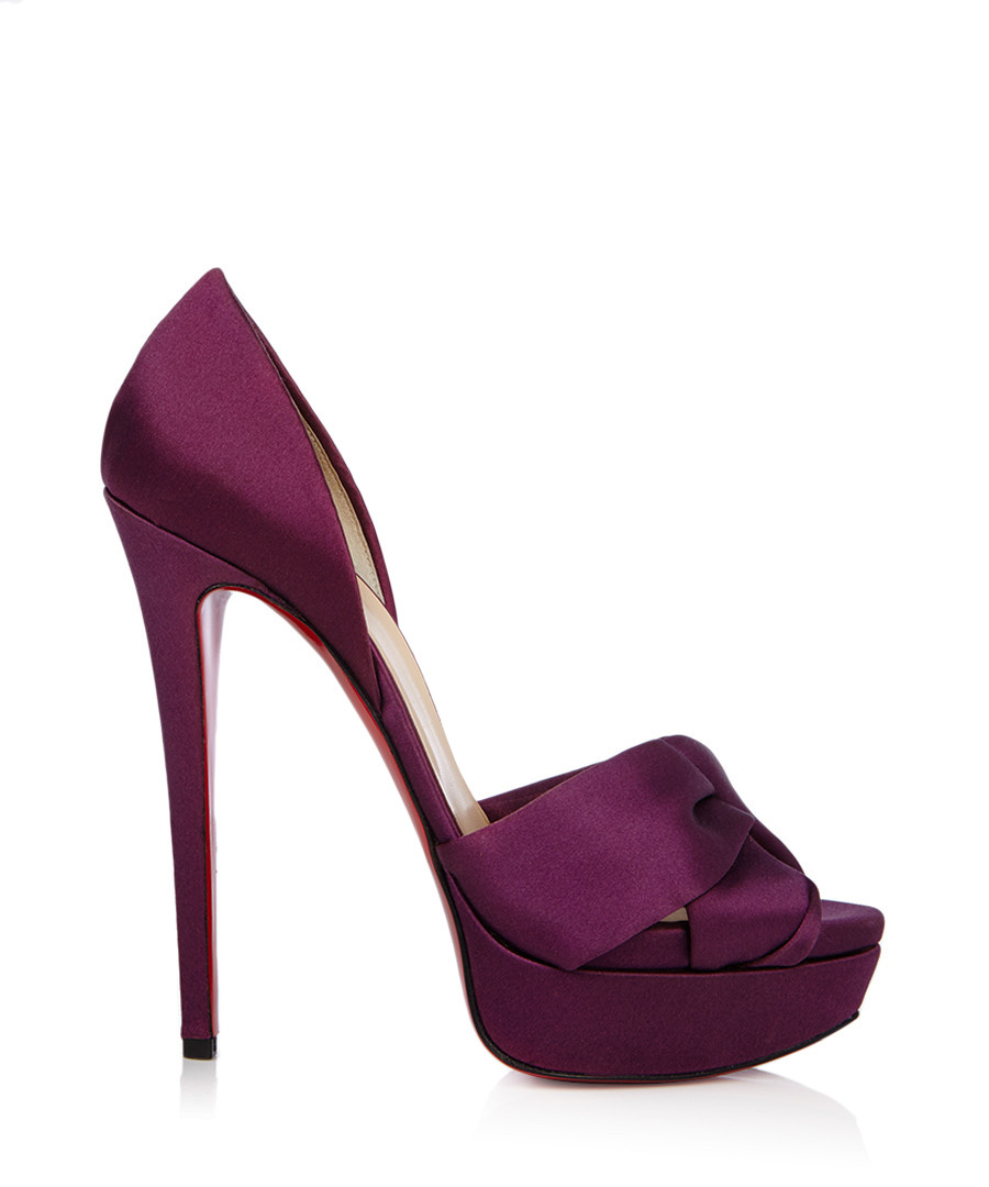 Volpi purple satin platform high heels Sale - christian louboutin