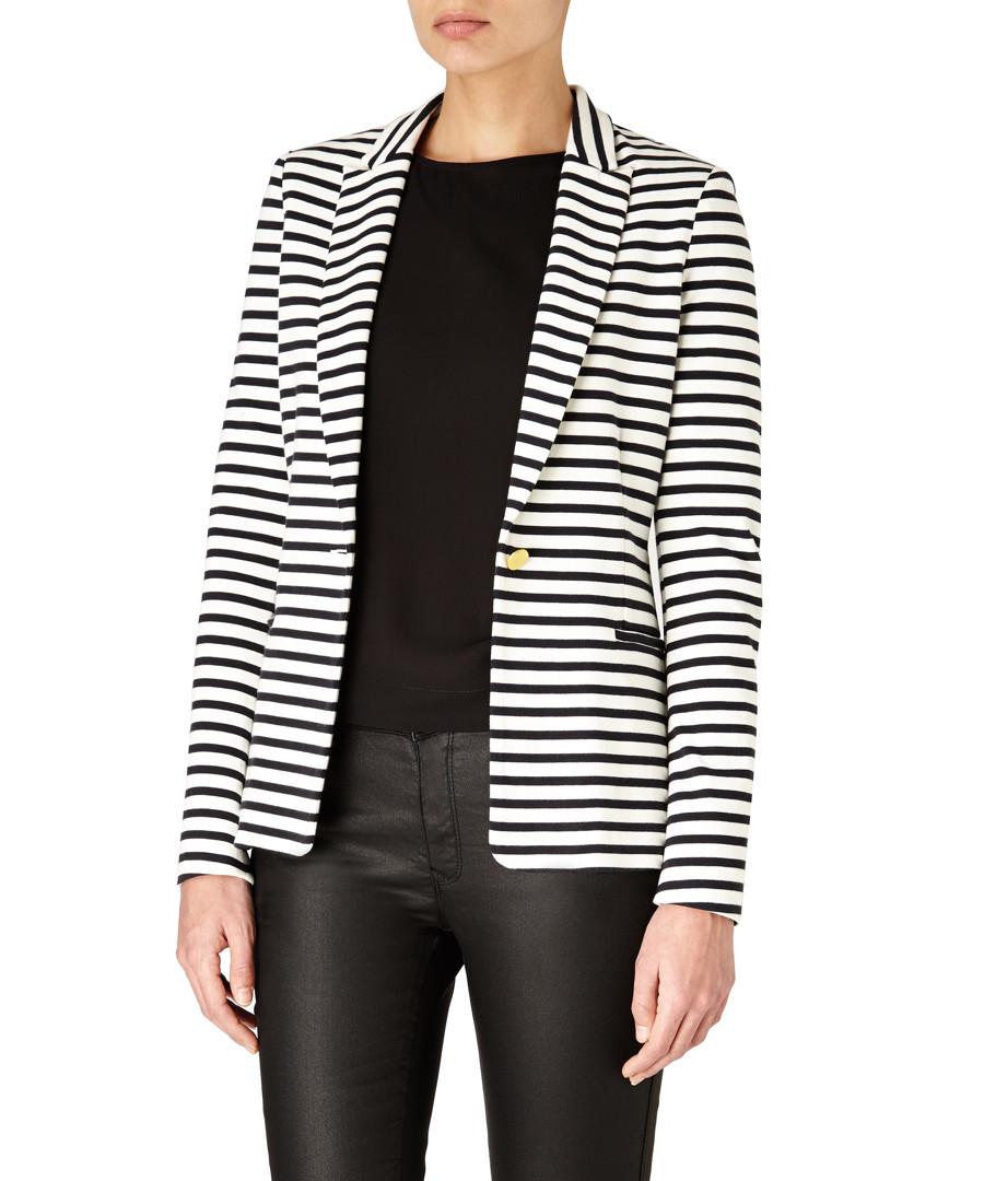 Navy & white pure cotton striped blazer Sale - Day Birger