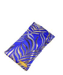 Royal blue silk glasses case