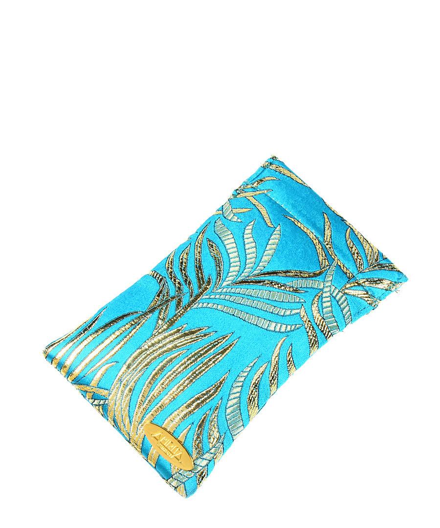 Turquoise silk glasses case Sale - amrita singh